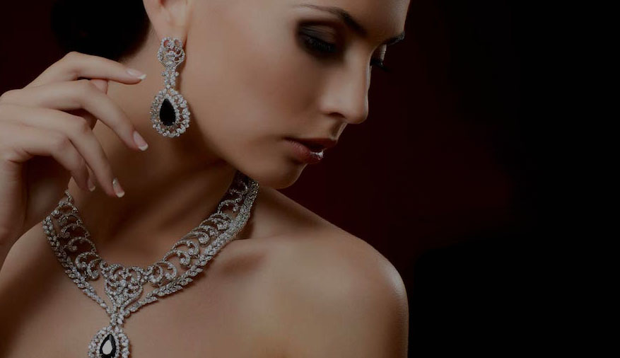Perfect Earrings Set and Diamond Necklace